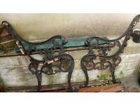 Lions head cast iron bench ends £30
