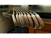 Full set of left handed Irons with putter