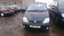 2002 RENAULT SCENIC, 1.9 DIESEL, BREAKING FOR PARTS ONLY, POSTAGE AVAILABLE NATIONWIDE