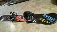 used Burton snowboard and bindings
