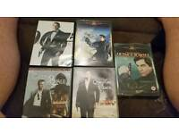 James Bond dvds x 5