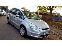 7 SEATER FORD S-MAX 2.0 TDCI LX MPV DIESEL 5 DOOR 66.000 MILES 1 YEAR MOT 3 MONTHS WARRANTY