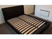 Faux Leather King Sized Bed Frame £50. Great Condition.