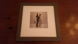 Set of two framed artistic pictures