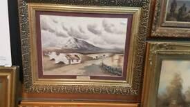 Vintage Irish watercolor painting by R T Cochrane