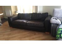 Brown leather sofa for sale! Very comfy
