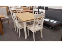 NEW Ex DISPLAY JULIAN BOWEN DAVENPORT DINING TABLE & 6 CHAIRS **CAN DELIVER**