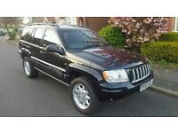 Jeep Grand Cherokee 2.7 CRD, 2003, low miles , 1 yr MOT - ++GEARBOX FAULT++ - still drives normally