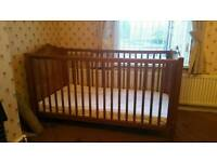 *Reduced* Wooden cot with mattress