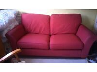 2seater bed settee..marks and spencer made..folds out to 4foot bed..mattress excellent condition £60