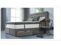 Double divan bed with drawers sold