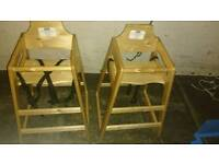 Baby high chair solid wooden