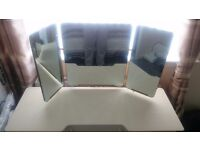 Dressing table painted white