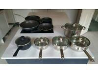 Various cooking pans