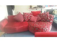 HUGE COMFY COUCH AND ARM CHAIR