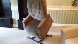 green rise and recline chair for sale good condition