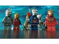 Ironman Lego minifigure keyrings