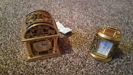 Miniature Gold Clocks