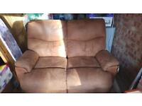 2 seated sofa and arm chair