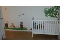 cot and mattress in excellent condition please read details as new nursery baby