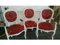 Six vintage style dining chairs