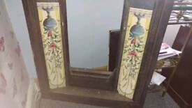 REDUCED!! Wrought iron fire surround +