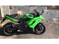 Motorbike motorcycle Kawasaki Er6f