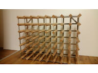 Large Wooden Wine Rack