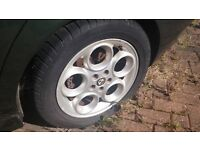 Alfa Romeo 156 - 4x Alloys (Wheel Rims) + Tyres (Good Cond) (+ Optional EXCELLENT Leather Interior)