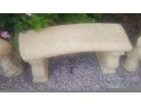 Solid concrete seat