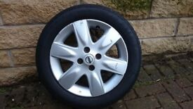 "GENUINE NISSAN MICRA ALLOY WHEEL (X 2) 15"" WITH WINTER TYRES FOR K12 2003-2009."