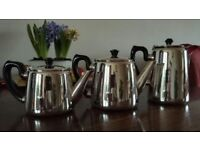 Silver plated tea pots and water jug - ideal when serving a traditional afternoon tea!