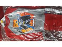 BAT MAN CHILDREN PYJAMA AGE 7-8 %100 COTTON FOR £4 TWO FOR £7. NEW WITH TAG.