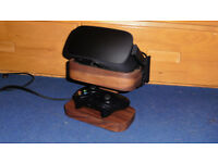 Oculus Rift CV1 + Custom Built Walnut Stand - Excellent Quality Condition