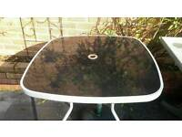 Garden table and parasol weight