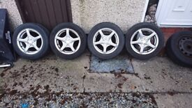 "4x100 15"" alloy wheels fit corsa clio 206 207 most small cars"