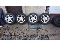 """4x100 15"""" alloy wheels fit corsa clio 206 207 most small cars"""
