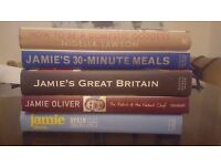 Jamie Oliver and Nigella Lawson cookbooks - excellent condition