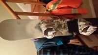 Snowboard for sale 64 inches long with bindings