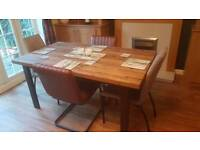 Extending dining table - next Bronx - only 2 weeks old