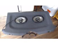 Vauxhall corsa c parcel shelf and speakers