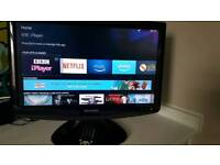 SHARP 19 IN LCD TV AND DVD PLAYER