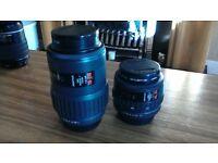 Pentax F 70-210 & F 35-70 zoom lenses