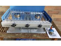 Campingaz double burner stove and grill