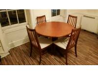4 dining chairs and round table