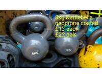 Kettlebells 8kg each - par available