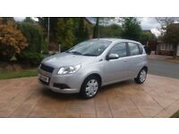 Chevrolet Aveo 2010. 1.2 LS Silver. Long MOT. Low mileage. Bargain £925