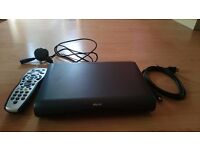 Sky HD box with remote, viewing card and cables