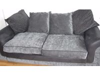 DFS 3-4 seater sofa bed in dark and light grey
