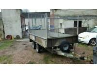 good ifor williams lt105 2000kg dropside trailer no vat